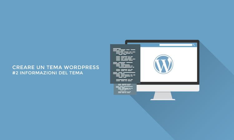 Creare un tema WordPress - Informazioni del tema