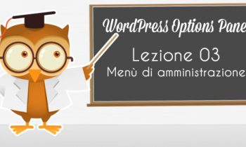 WordPress Option Panel – Menù amministrativo.