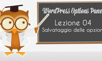 WordPress Option Panel – Salvataggio delle opzioni