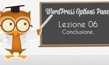 WordPress Option Panel – Conclusione