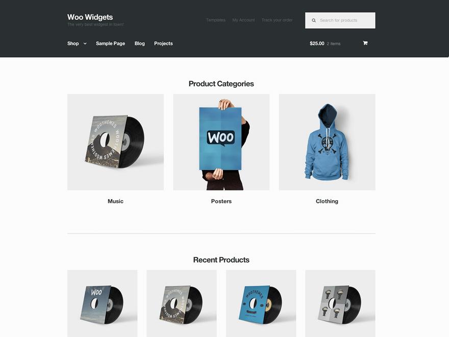 Tema WordPress Gratis Storefront