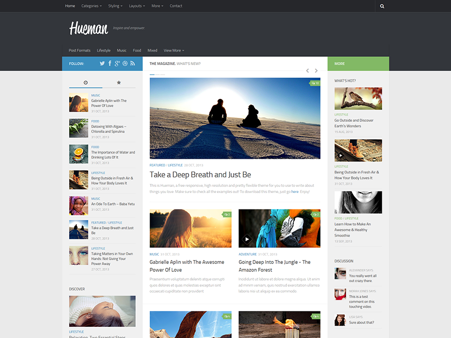 Tema WordPress Gratis Hueman