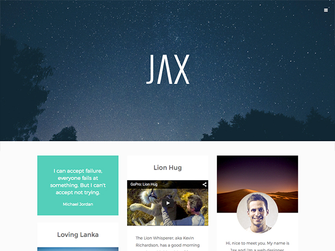 Tema WordPress Gratis Jax