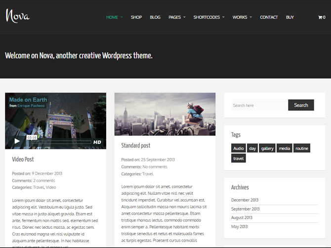 Tema WordPress Gratis Nova