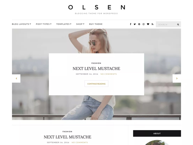 Tema WordPress Olsen Light