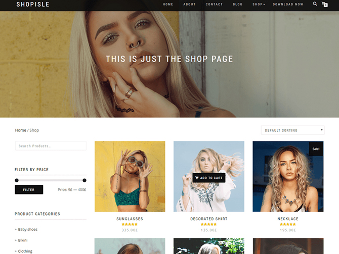 Tema WordPress Shop Isle