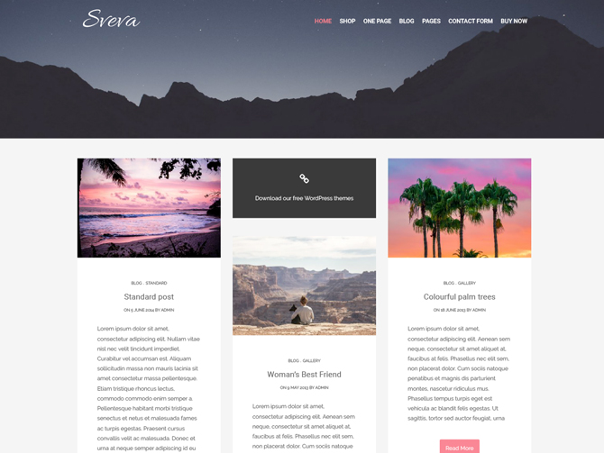 Tema WordPress Sveva