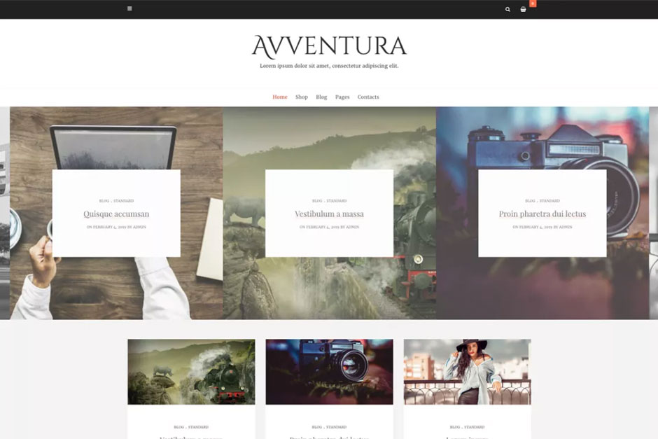 Tema WordPress Gratis Avventura