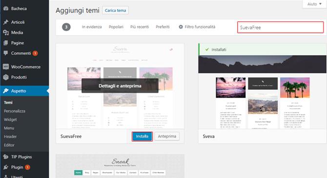Come installare tema WordPress gratuito
