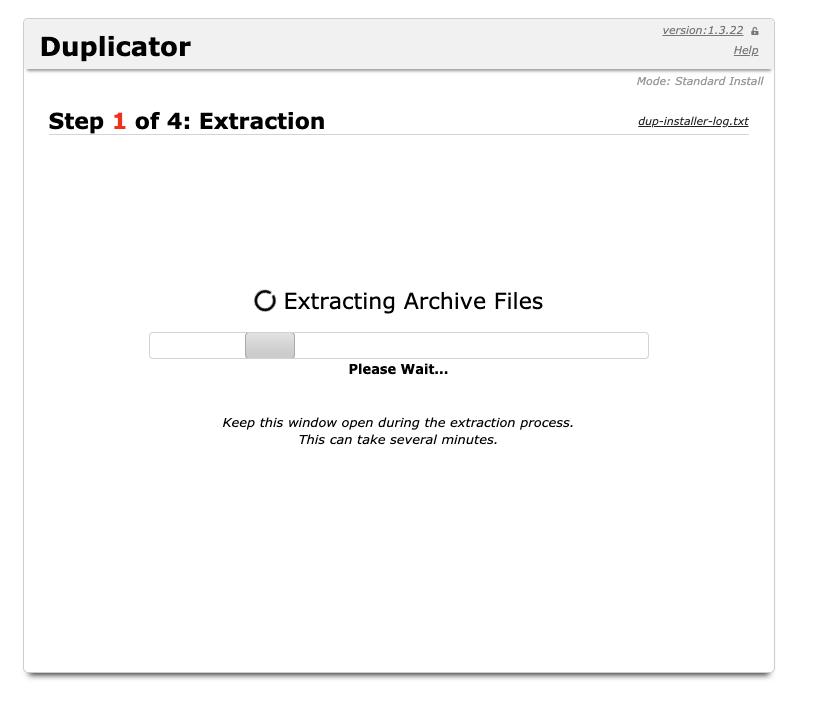 Installazione pacchetto, step 1 - estrazione